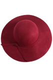 Promo Toko Baru Musim Gugur Dan Musim Dingin Retro Inggris Imitasi Wol Flanel Perempuan Leisure Fashion Joker Hat Burgundia Intl Fancyqube