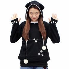Harga Fancyqube Baru Chic Tinggi Kualitas Jepang Kangaroo Big Pocket Grey Cat Dog Pet Casual Hoodie Sweatshirts Hoodie Dengan Telinga Neko Atsume Pakaian Hitam Intl Fancyqube
