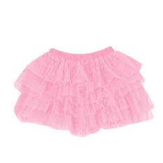 Fang Fang Gadis Anak Dancewear Tutu Pettiskirt Gaun Putri Bouffant Rok (Pink)