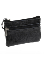 Beli Fang Fang Leather Zip Coin Purse Black Terbaru