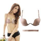 Beli Fang Fang Baru Ultra Deep U Terjun Wire Push Up V Bra 7 Way Straps Brassiere Underwear Beige Intl Pake Kartu Kredit