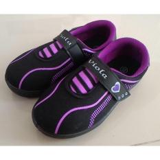 Cuci Gudang Fanie Shoes Viola Darlene Sepatu Sekolah Hitam Anak Perempuan Cantik Murah