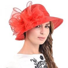 Fanny Cloche Oaks Gaun untuk Pergi Ke Gereja Bowler Derby Topi Pernikahan  Pesta S015-Intl 2ff98468ab