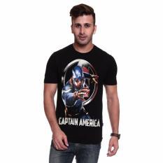 Harga Fantasia T Shirt Pria Captain America Avengers Assemble Hitam Fantasia Ori