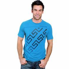 Fantasia T-Shirt Pria Katea SS Zig Zag Vector - Biru