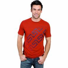 Fantasia T-Shirt Pria Katea SS Zig Zag Vector - Merah