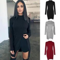Harga Trend Baju Maxi Dress Tangan Panjang Uk L Abu abu Muda Source · Flavia Store