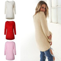 Spesifikasi Fantastis Bunga 8 Warna Baru Fashion Wanita Atasan Kasual Mohair Blend Fuzzy Blus Knit Wear Pullover Jumper Loose Sweater Hitam L Intl Terbaik