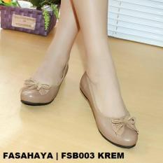 Model Fasahaya Sepatu Flat Wanita Balerina Fsb003 Krem Terbaru