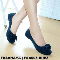 Fasahaya Sepatu Flat Wanita Terbaru Online FSB005 Biru