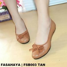 Fasahaya Sepatu Wanita Flat Shoes Balet Terbaru Murah FSB003 TAN