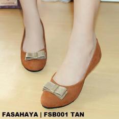 Dapatkan Segera Fasahaya Sepatu Wanita Flat Shoes Ballet Cantik Terbaru Murah Fsb001 Tan