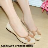 Jual Fasahaya Sepatu Wanita Flat Shoes Ballet Cantik Terbaru Murah Fsb008 Krem Murah Di Jawa Barat