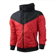 Beli Fashion Pria Musim Semi Musim Gugur Hiphop Hooded Waterproof Jaket Jaket Mantel Pakaian Luar Intl Dengan Kartu Kredit