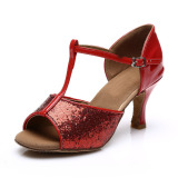 Beli Fashion And Professional Ladies Dance Shoes For Latin Salsa Tango Shoes Stiletos216 Red Online