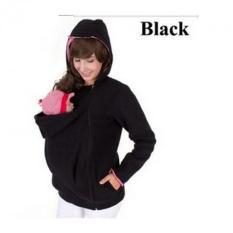 Fashion Baby Carrier Jaket Musim Dingin Pakaian Coat untuk Wanita Hamil Multifungsi Induk Kanguru Lengan Panjang Wanita Hooded Baju Lapis (hitam) -Intl