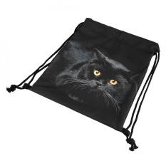 Fashion Backpack untuk Wanita dan Pria 3D Digital Printing Backpack Outdoor Cat #2-Intl