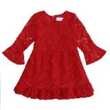 Jual Fashion Baju Anak Bayi Perempuan Lengan Panjang Ikat Tinggi Lekukan Renda Match With Kerut Kerut Gaun Bang Bang Pendek Bermotif Akuisisi Bunga Antik