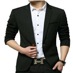 Spesifikasi Fashion Blazer Pria Jas Pria Keren Moderaizen Hitam Yg Baik