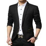 Toko Fashion Blazer Pria Keren Valextra Black Hitam Murah Jawa Barat