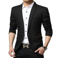 Spesifikasi Fashion Blazer Pria Keren Valextra Black Hitam Terbaik