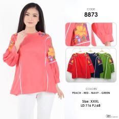 Beli Fashion Blouse Unik Cantik Blouse Katun Bordir 8873 Zetta Jumbo Murah Seken