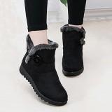 Beli Fashion Gesper Nyaman Tetap Hangat Lembut Musim Dingin Pergelangan Kaki Sepatu Bot Salju Untuk Wanita Intl Murah Tiongkok