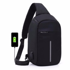 Fashion Casual High Quality Chest Bag Men Women Shoulder Usb Charge Port Bag Multi Layers Anti Theft Cross Bag Travel Bag Business Bag Single Shoulder Bag Riding Bag Intl Original