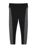 Fashion Wanita Kasual Nyaman Besar Patchwork Yoga Sport Kesembilan Celana Legging Hitam Intl Terbaru