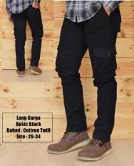 Jual Fashion Celana Cargo Panjang Hitam Fashion
