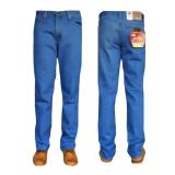 Fashion Celana Jeans Panjang Standar Reguler Biru Muda Original