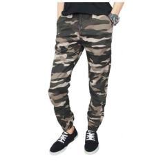 Fashion Celana Joger Army Panjang - Hijau Grey
