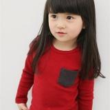Harga Fashion Anak Pakaian Candy Color T Shirt Boys Girls Kids Kasual Berlengan Panjang Untuk Pria T Shirt Merah Intl