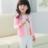 Harga Fashion Anak Anak Perempuan Wear Lengan Panjang Round Lace Kerah Mantel Kasual Baru