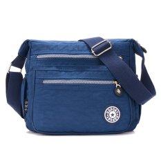 Spesifikasi Tas Wanita Fashion Wanita Klasik Tahan Udara Bahan Nilon Sling Bag Biru Gelap