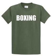 Modis Lucu Tinju Fighter Berjuang MMA Celana Boxer Latihan Kustom Kausal Katun Pria Lengan Pendek Sepanjang Kaus Hijau Tentara- internasional