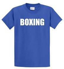 Modis Lucu Tinju Fighter Berjuang MMA Celana Boxer Latihan Kustom Kausal Katun Pria Lengan Pendek Sepanjang T Kemeja Biru-Internasional