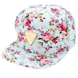 Harga Fashion Motif Bunga Hip Hop Topi Baseball Cap Disesuaikan Datar Hijau Internasional Murah