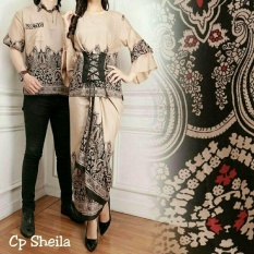 FASHION FLOWER-BAJU COUPLE  BAJU PASANGAN  BUSANA MUSLIM  COUPLE BATIK  FASHION COUPLE  MUSLIM WEAR  BAJU COUPLE SHELILA-COKSU (COWOK DAN CEWEK)
