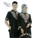 Fashion Flower Baju Couple Muslim Juliet Black Bordiran Asli