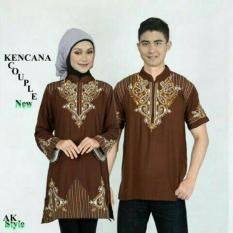 FASHION FLOWER-BAJU COUPLE MUSLIM KENCANA BROWN + BORDIRAN