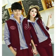 FASHION FLOWER-BAJU COUPLE  SWEATER PASANGAN  JAKET HOODIE COUPLE HOODIE  COUPLE JAKET HOODIE STRIP