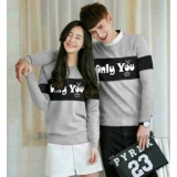 Beli Fashion Flower Baju Couple Sweater Pasangan Sweater Couple Couple Only You Lp Grey Cowok Dan Cewek Lengkap