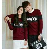 Jual Fashion Flower Baju Couple Sweater Pasangan Sweater Couple Couple Only You Lp Maroon Cowok Dan Cewek Fashion Flower Online