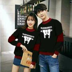 Beli Fashion Flower Baju Couple Sweater Pasangan Sweater Couple Couple Warm Lp Black Maroon Cowok Dan Cewek Secara Angsuran