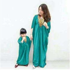 FASHION FLOWER-BAJU KAFTAN COUPLE MOM KIDS MISSY-TOSCA (IBU DAN ANAK)