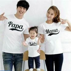 FASHION FLOWER-BAJU KELUARGA  KAOS FAMILY  FAMILY COUPLE  FASHION FAMILY  KAOS FAMILY COUPLE PAPA MAMA 1 ANAK-WHITE (AYAH.IBU.ANAK)