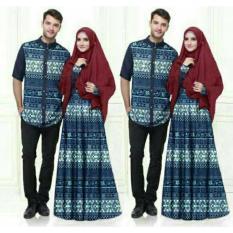 Beli Fashion Flower Baju Pasangan Couple Busana Muslim Batik Misua Navy Cowok Dan Cewek Fashion Flower Dengan Harga Terjangkau