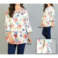 FASHION FLOWER-BLOUSE JUMBO WANITA BLOUSE JUMBO ATASAN WANITA BIG SIZE UKURAN JUMBO FASHION WANITA