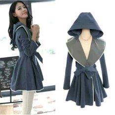 Review Fashion Flower Dress Hoodie Wanita Sakura Biru Abu Terbaru